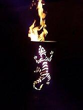 Tiko-Metalldesign Feuerkorb/Feuertonne mit Gecko