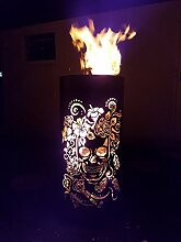 Tiko-Metalldesign Feuerkorb/Feuertonne mit Motiv