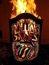 Tiko-Metalldesign Feuerkorb mit Motiv The Rolling