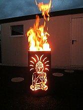 Tiko-Metalldesign Feuertonne Buddha