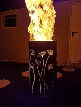 Tiko-Metalldesign Feuertonne/Feuerkorb mit Motiv