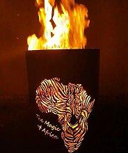 Tiko-Metalldesign Feuertonne/Feuerkorb, mit Motiv