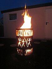Tiko-Metalldesign Feuertonne/Feuerkorb mit Motv