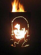 Tiko-Metalldesign Feurtonne/Feuerkorb mit Michael