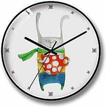 TIKTOKS Wand Stille Uhr 12 Zoll Cartoon - Stil