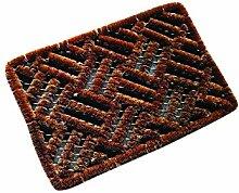 Tildenet dmc1759x 39x 2cm Schuhabstreifer Kreuzschraffurmuster Kokosmatte–Braun (1-)