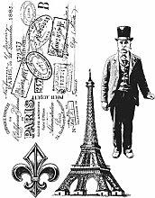 Tim Holtz Haftende Stempelsets, Stampers Anonymous, künstlerische Werkzeuge, Gummistempel Paris Memoir ro