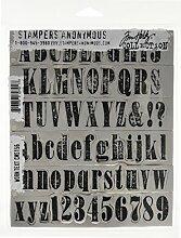 Tim Holtz Haftende Stempelsets, Stampers Anonymous, künstlerische Werkzeuge, Gummistempel Text mit Vintage-Optik ro