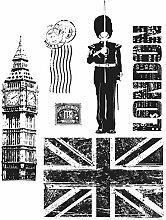 Tim Holtz Haftende Stempelsets, Stampers Anonymous, künstlerische Werkzeuge, Gummistempel London Sights ro
