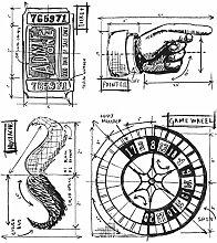 Tim Holtz Haftende Stempelsets, Stampers Anonymous, künstlerische Werkzeuge, Gummistempel Ringmaster - Entwurf ro
