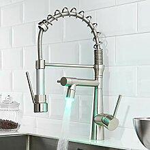 TIMACO LED Wasserhahn Küche Schwarz - 360°