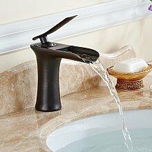 Timaco Waschbecken Wasserhahn Wasserfall Monoblock-Armatur