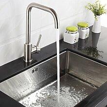Timaco Wasserhahn Küche Armatur Küche Edelstahl