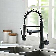 TIMACO Wasserhahn Küche Schwarz - 360°