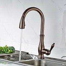 Timaco Wasserhahn Küchenarmatur Waschtischarmatur Armatur Brause Schwarz Schwenkbar