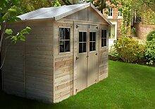 TIMBELA M332 Blockbohlen Gartenhaus aus Holz -