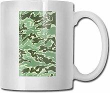 Timdle Porzellan-Kaffeebecher Camouflage Green