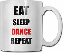 Timdle Porzellan Kaffeebecher Eat Sleep Dance