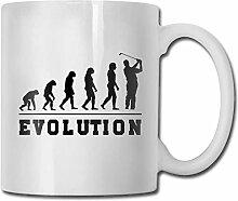 Timdle Porzellan Kaffeebecher Golf Evolution