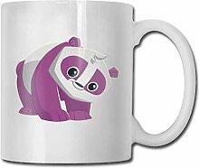 Timdle Porzellan Kaffeebecher Lila Panda Tier