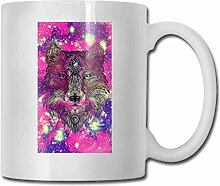 Timdle Porzellan Kaffeebecher Wolf Bunte Keramik