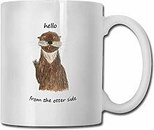 Timdle Porzellan Kaffeebecher Wort Otter Seite