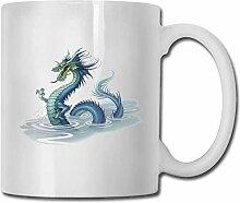 Timdle Porzellan Kaffeetasse Chinesischer Drache