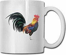 Timdle Porzellan Kaffeetasse Hahn Huhn Tier