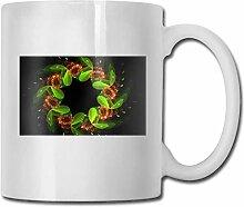 Timdle Porzellan Kaffeetasse Kranz grün bunte