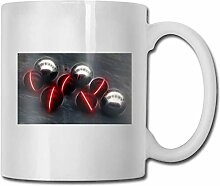 Timdle Porzellan-Kaffeetasse-Kugel beleuchtet rote