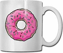 Timdle Porzellan Kaffeetasse Rosa Donut Donuts