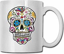 Timdle Porzellan Kaffeetasse Schädel Knochen