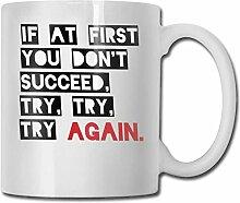 Timdle Porzellan-Kaffeetasse Versuchen Sie es erneu
