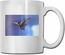 Timdle Porzellan Kaffeetasse Vogel Seil Muster