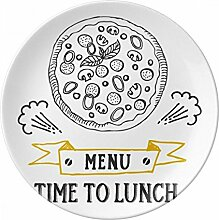 Time to lunch Pizza Foods Porzellan Dekoration