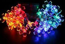 Timewanderer 4.5m 30er Bling Blumen LED 3xAA Batteriebetrieben Lichterkette für DIY Dekoration (Bunt Mischung)