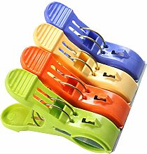 TIMLand Beach Towel Clips, Durable Plastic Secure