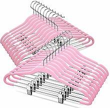 TIMMY Samt-Kleiderbügel mit Clips (20 Stück),
