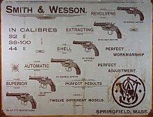 Tin Sign Nostalgie-Blechschild - S&W - Revolvers
