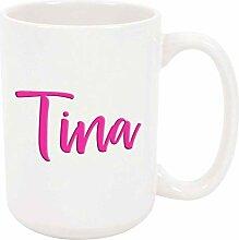 Tina 11oz Kaffee oder Teebecher Weiß Keramik