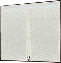 TINE HOME CURTAINS Reißverschluss Warm halten Vorhang EVA Dichtung Fenster Winter Winddicht Schlafzimmer Abgeschnitten Klimaanlage Isolationsvorhang Kunststoff Transluzent, 006, 120*150cm