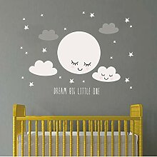 Tingeart Wandaufkleber Smiley Stars White Cloud