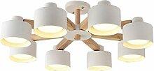 TingLiao Nordic Holz Kronleuchter Moderne