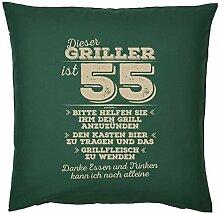 Tini - Shirts Griller Deko-Kissen 55.Geburtstag -