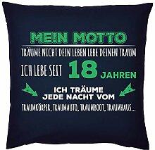 Tini - Shirts Sprüche-Kissen zum 18 Geburtstag -