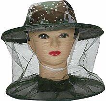TININNA Herren Camouflage Tarnung Moskitonetz Moskitonetzhut Kopf Insektenschutz Tarnfarbe Kopfnetz Mosquito Hut Imkerhut #3