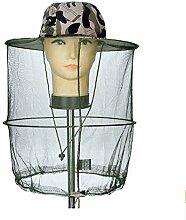 TININNA Herren Camouflage Tarnung Moskitonetzhut Kopf Insektenschutz Tarnfarbe Kopfnetz Mosquito Hut Imkerhut grau