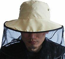 TININNA Mesh-Netz Moskitonetz Insektenschutz Insekt Schutz Bienenzucht Moskito Kopfschutz beige