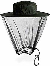 TININNA Mosquito Head Net Moskitonetz Insektenschutz Insekt Schutz Moskito Kopfschutz schwarz