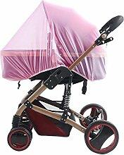 TININNA Universal Insektenschutz passend für Kinderwagen Moskitonetz Fliegennetz Mückennetz Insekt Netz Netting für Kinderwägen Cradles rosa